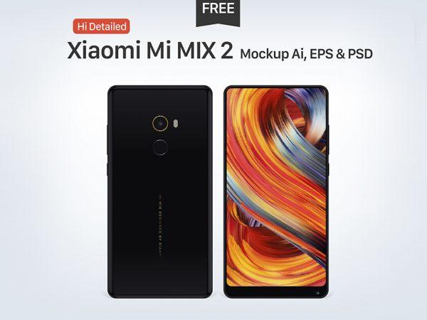 Мокап Xiaomi Mi MIX 2