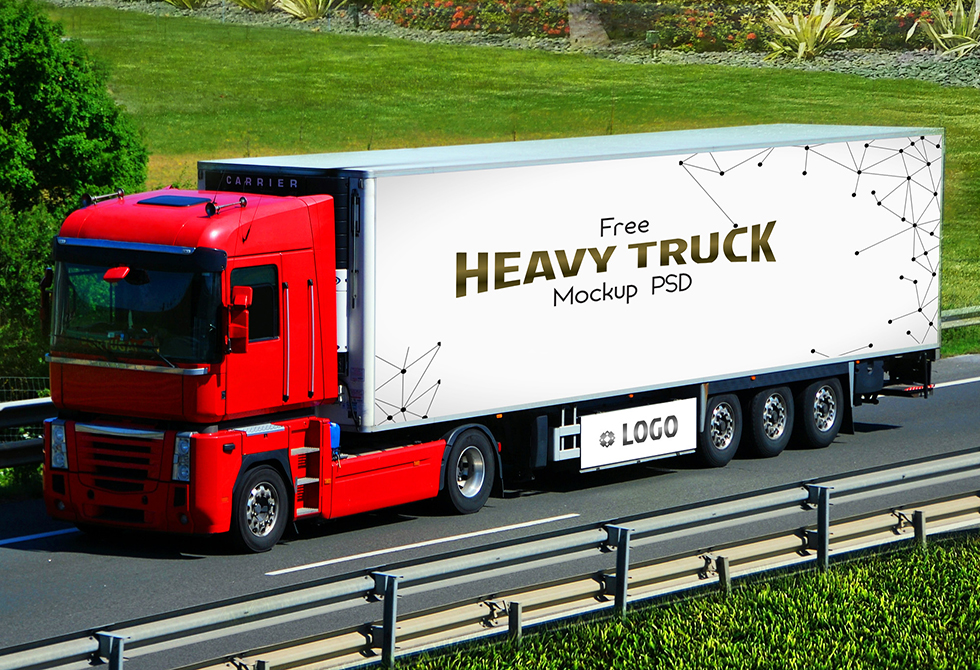 Мокап грузовик