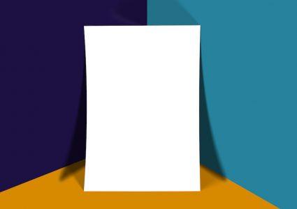 Мокап белого листа А4
