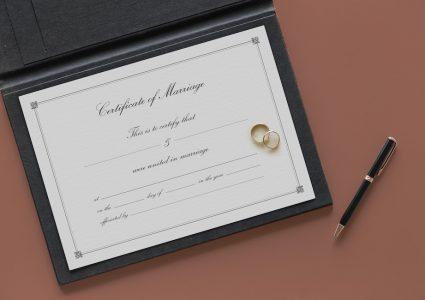Мокап  шаблон для брака