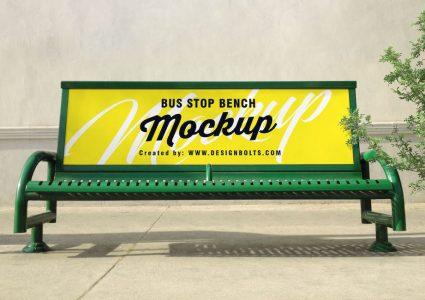 Мокап автобусной остановки