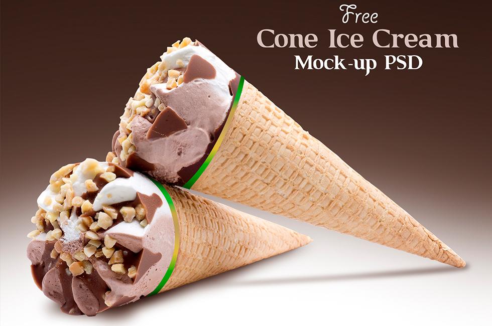 Мокап мороженого