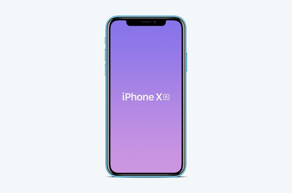 Мокап iPhone XR