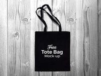 Мокап черной сумки для покупок