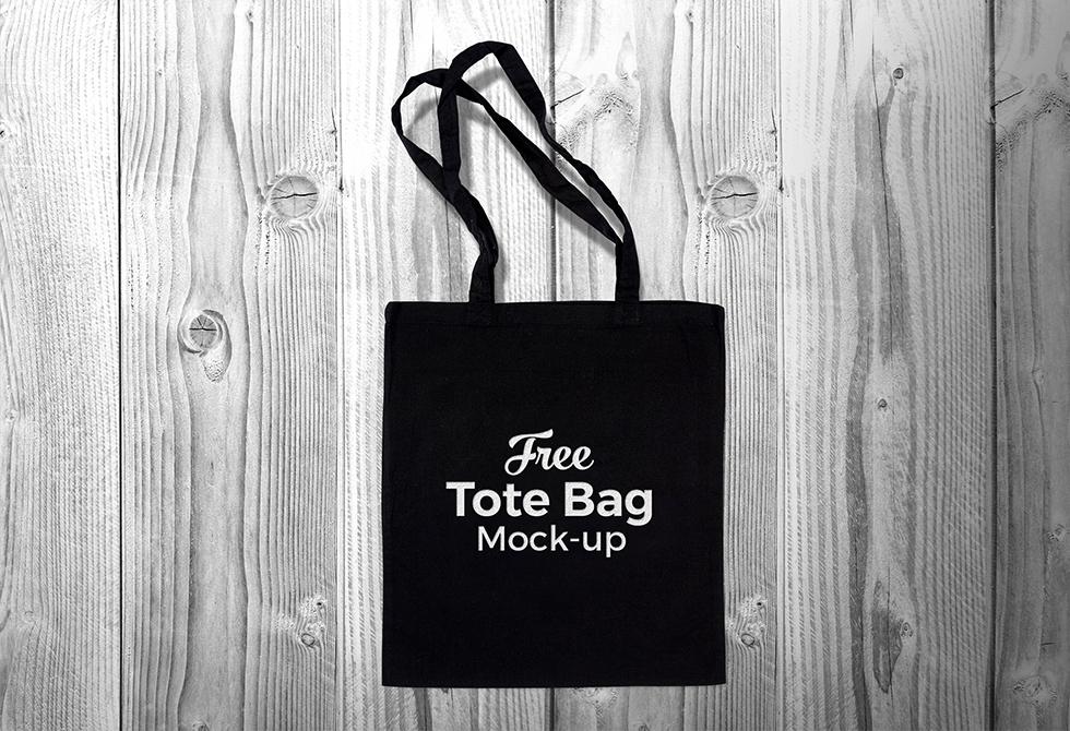 Мокап черная сумка для покупок