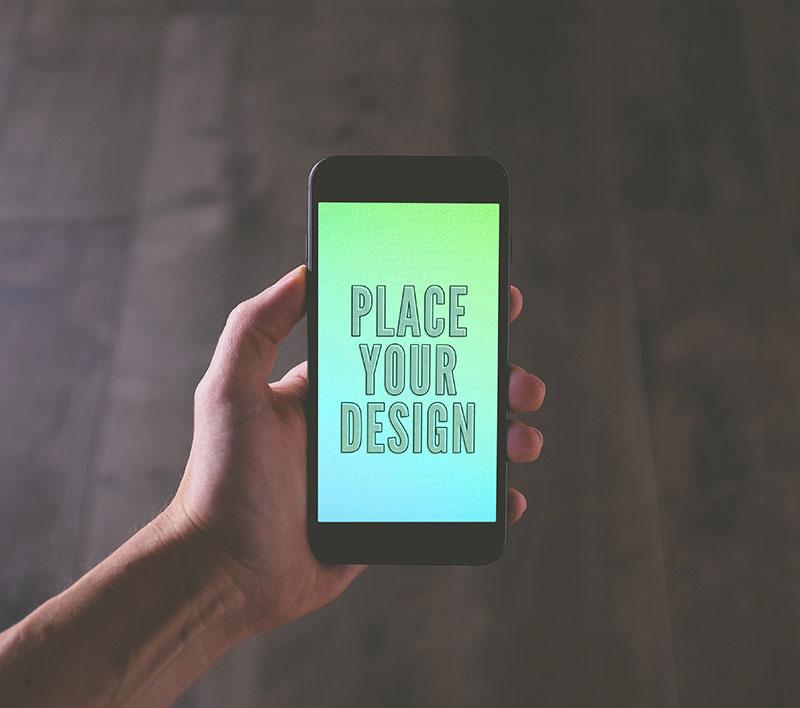 Мокап Jet Black iPhone 7 Plus