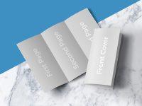 Мокап брошюры премиум-класса