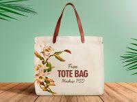 Мокап сумки из органического хлопка