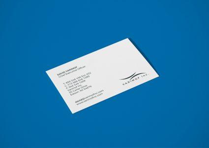 Мока белой визитной карточки