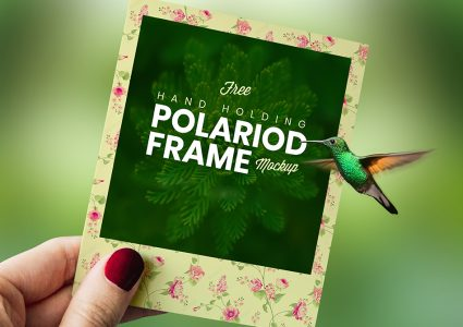 Мокап Polaroid