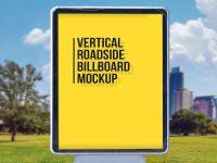 Мокап вертикальной рекламы