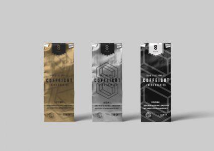 Мокап упаковки кофе