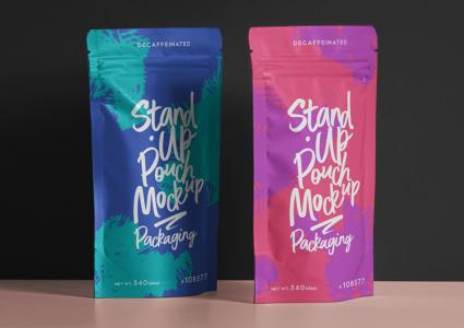 Мокап упаковки пакетов